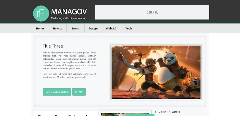 Managov Free Blogger Template