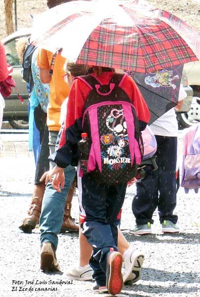 No se suspenden las clases en Canarias mañana lunes por el temporal