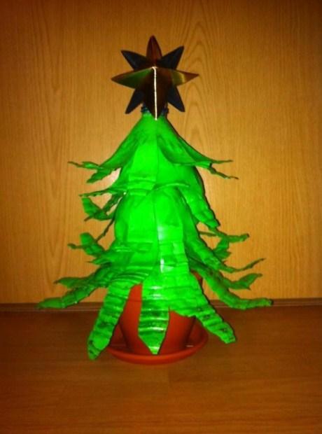 Water Bottle Christmas Tree