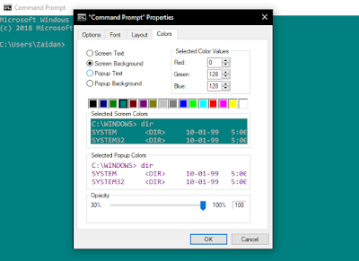 cara menghias command prompt windows 10