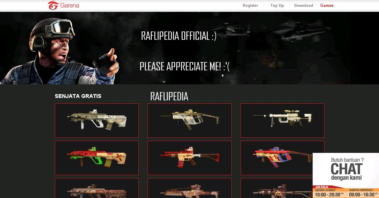 Script Phising Pb Garena Senjata Gratis True Login New Version