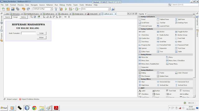 Kelas Informatika - Interface Aplikasi dengan GUI Builder