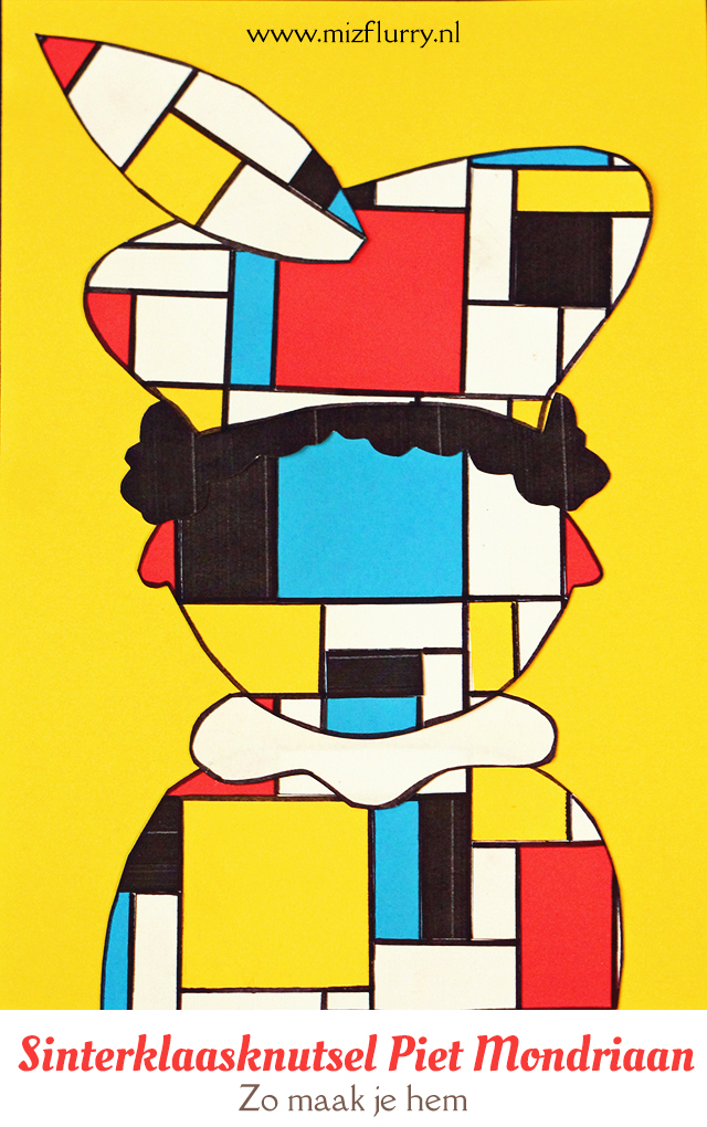 Piet Mondriaan knutselen
