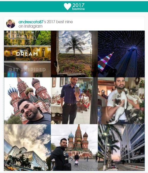 #Bestnine2017 #Instagram #website