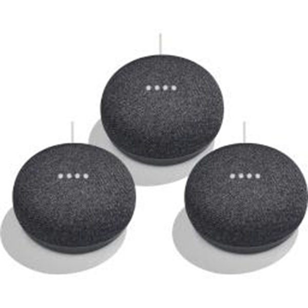 3 Pack Google Home Mini Personal Home Assistant Digital Media Streamer only $68.95 (was $99.99) with Free Shipping