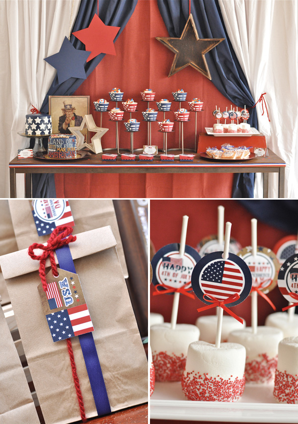 Rivernorthlove Vintage Americana 4th Of July Party