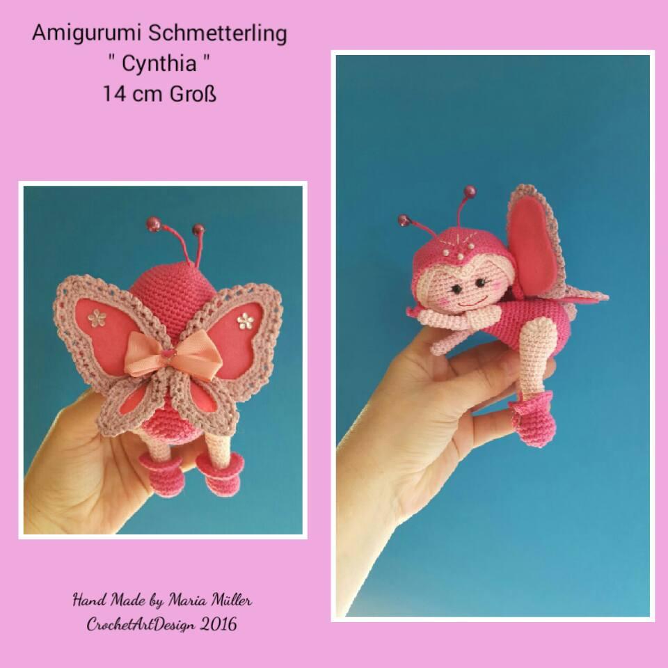 Crochetartdesign Amigurumi Schmetterling Cynthia