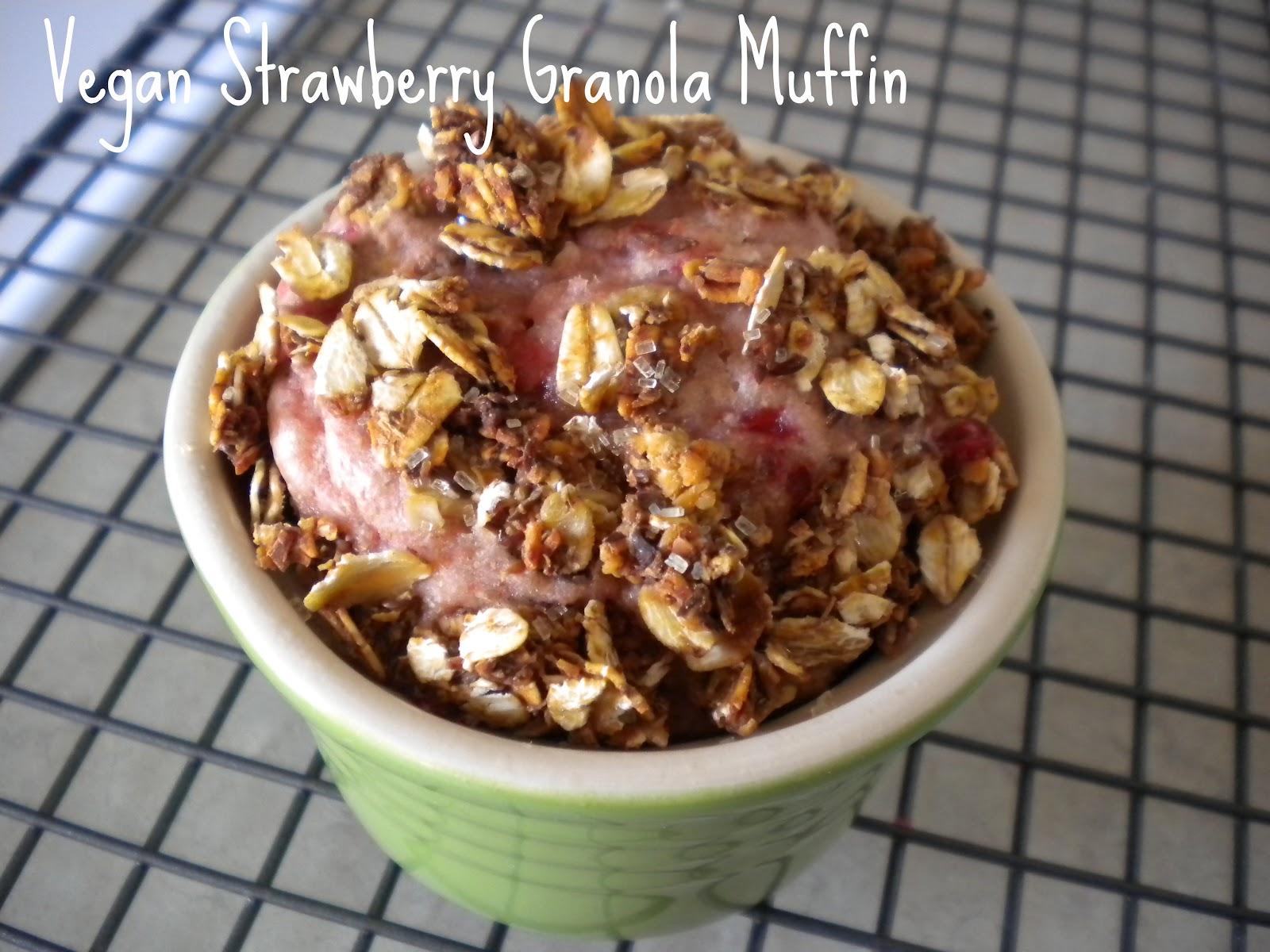 Muffin Strawberry Strawberry Granola Muffin