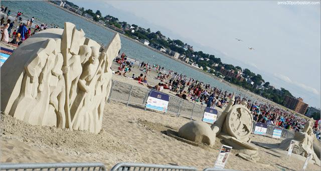 Esculturas de Arena del Festival Internacional de la Playa de Revere