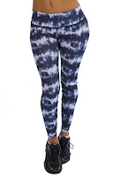 BLUE AND WHITE LEGGINGS FOR WOMEN