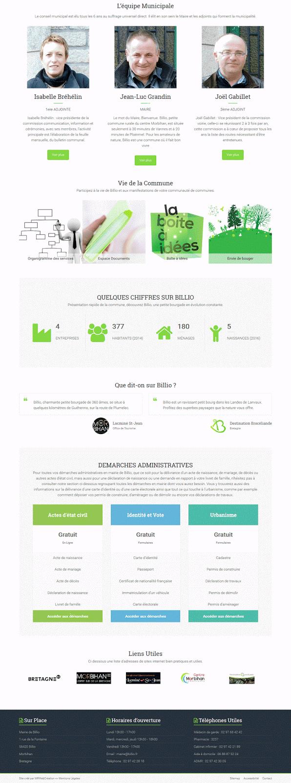 Site internet de la Mairie de Billio
