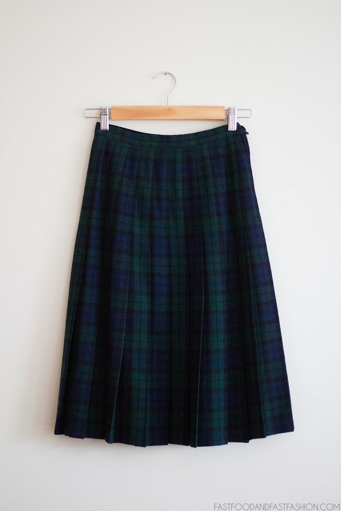 Pendleton Black Watch Tartan Pleated Plaid Skirt
