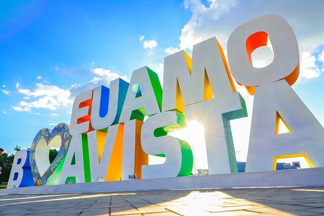 Prepare as selfies| Boa Vista ganha letreiro turístico na Praça das Águas