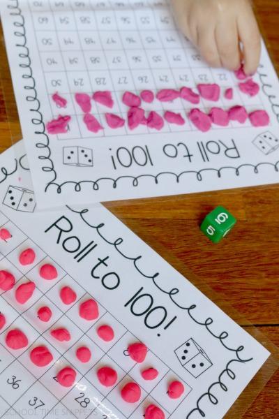 100s Board Math Game