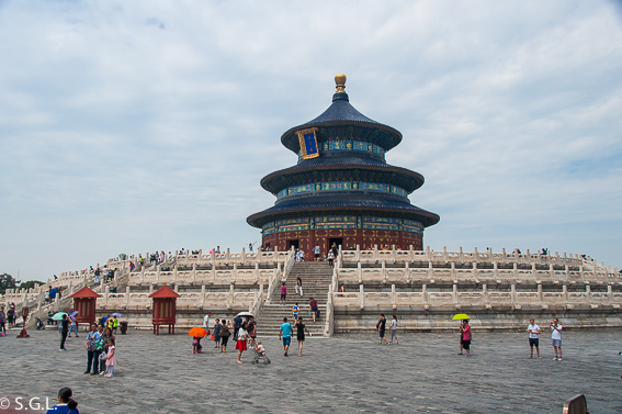 Panoramica del templo del cielo en Pekin