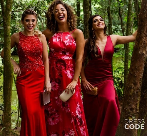 vestido de festa longo vermelho marsala