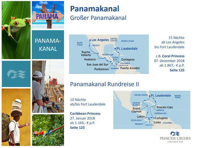 Panamakanal Kreuzfahrt mit Princess Cruises (C) Princess Cruises