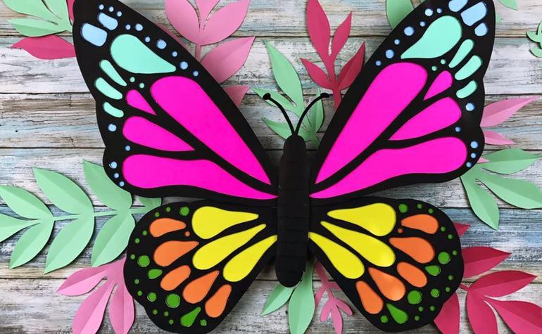 Aprende c mo hacer mariposas gigantes de cartulina para decorar lodijoella - Mariposas para decorar ...