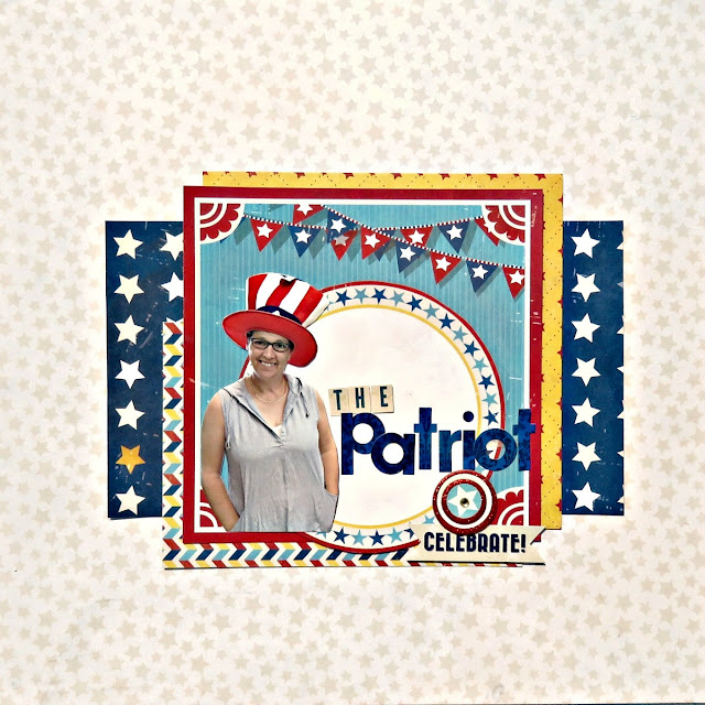 The Patriot scrapbook page Tracee Provis for Bo Bunny 1 layout 3 ways 01