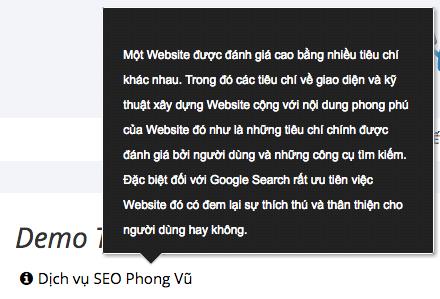 Tạo ghi chú ngắn code Tooltip sử dụng CSS3 cho Web, Blog