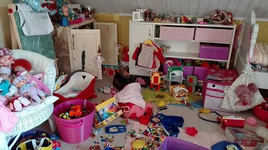 lastenhuoneen kaaos