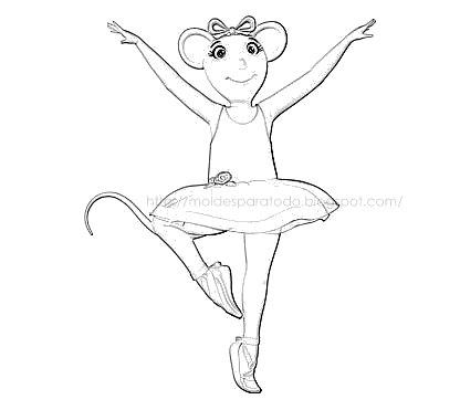 Angelina Ballerina Para Pintar Imagui