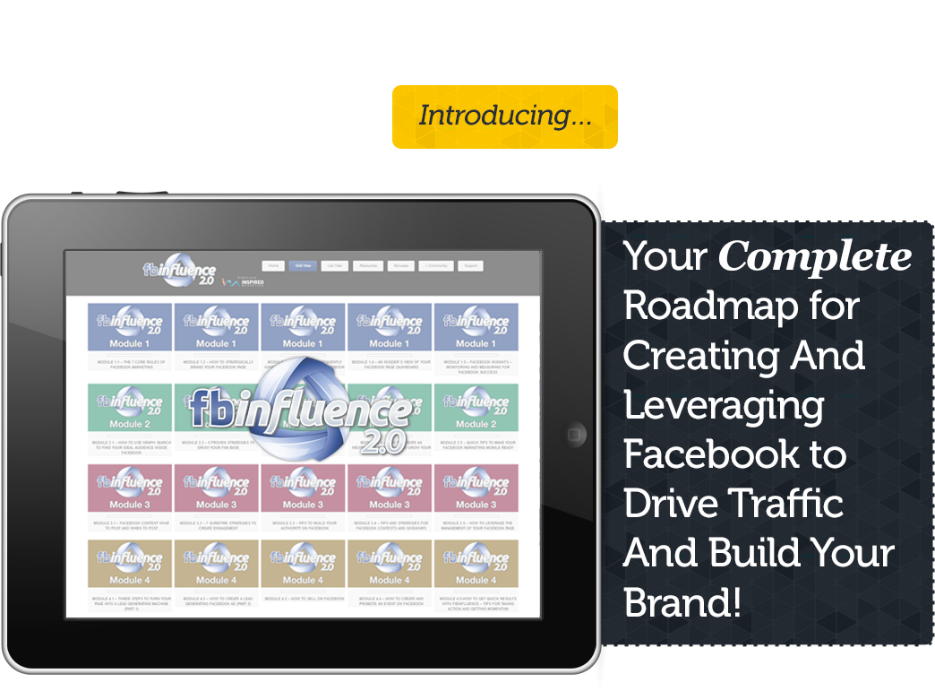 Your Complete Roadmap for Creating And Leveraging Facebook to Drive Traffic And Build Your Brand!