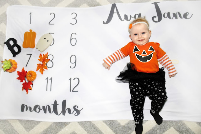 ava jane baby girl spring month to month monthly milestone blanket pregnancy ideas 7 months old child model halloween october