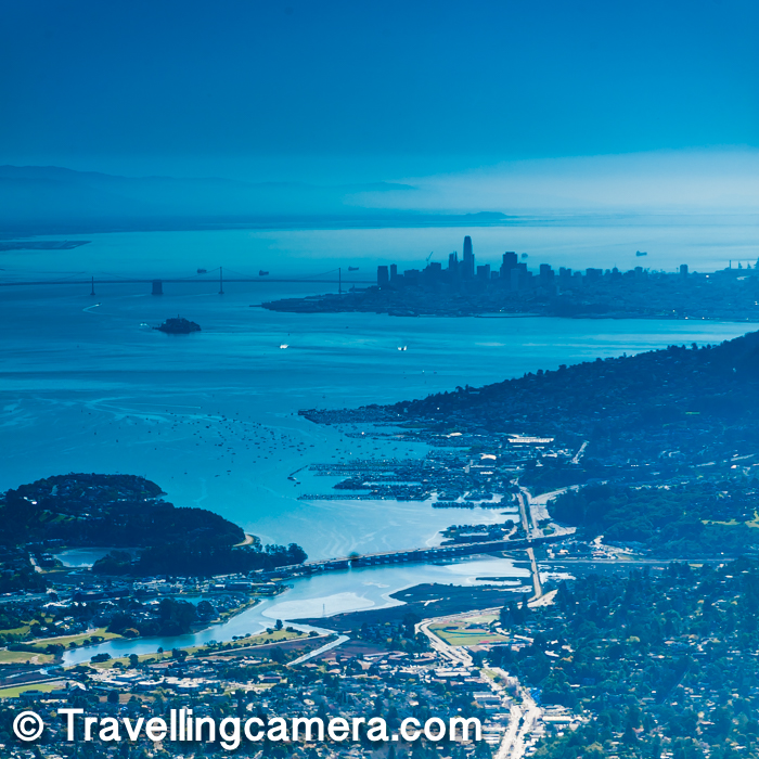 There are plenty of hiking trails on Mount Tamapais and many of them expose you to brilliant views of San Francisco City, Bay Bridge, Golden Gate Bridge and various other neighborhoods. Diversity of California state in USA offers lot of such amazing aerial views.