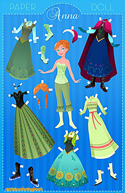 Disney Family Anna Papercraft