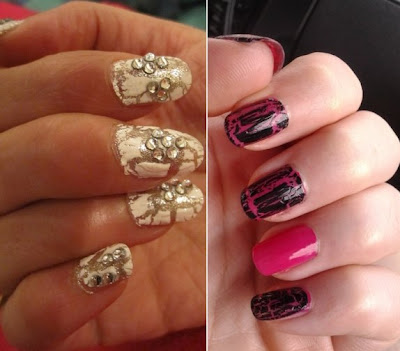 Crackle Nail Art Trend For Easy Nail Designs