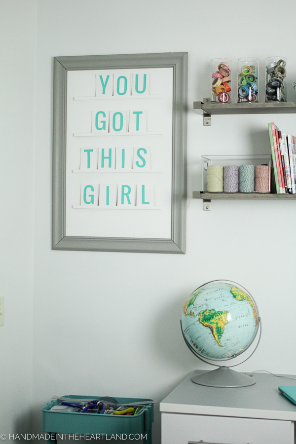 Cute diy aqua and white letter board