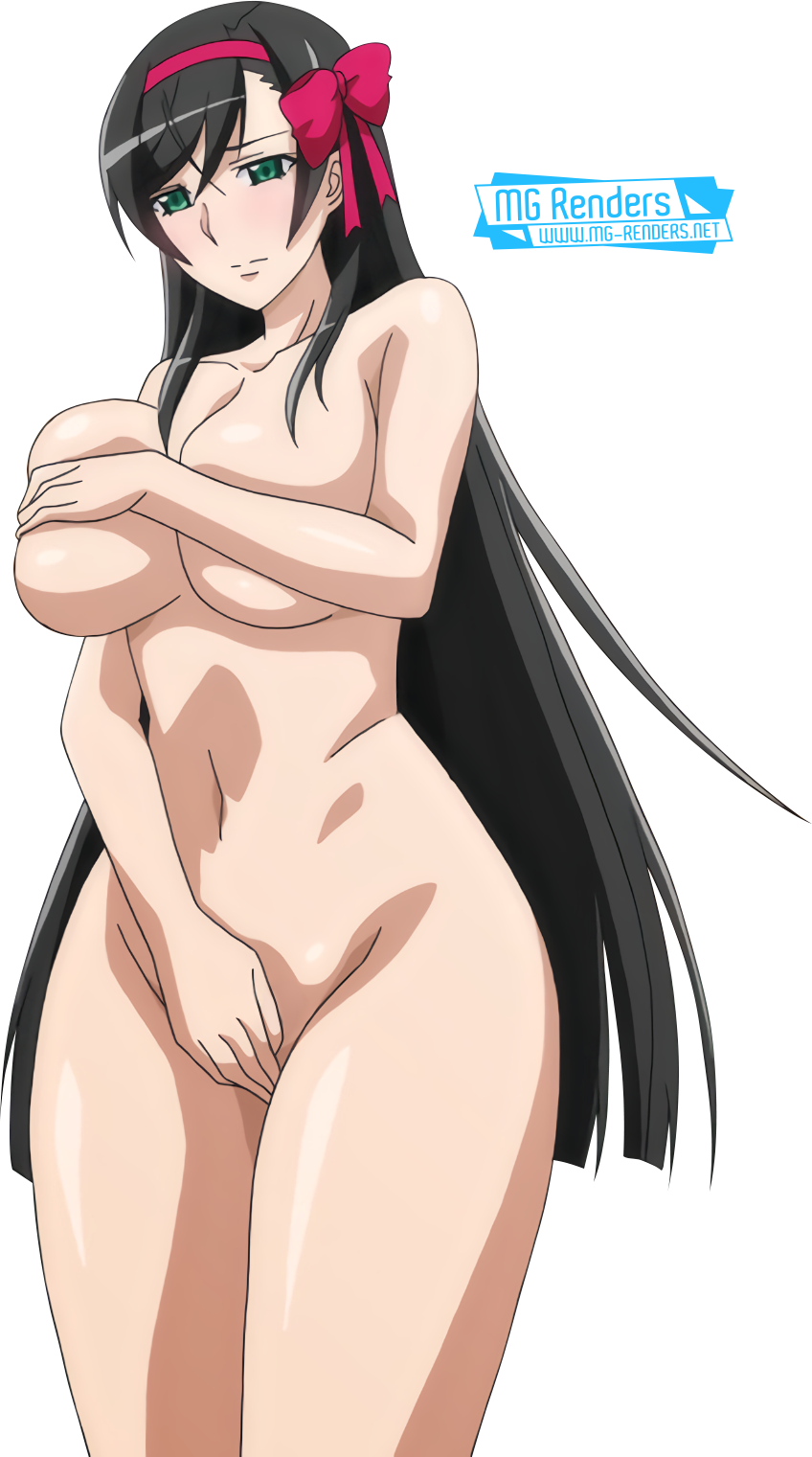 Tags: Anime, Render,  Akimiya Sayaka,  Huge Breasts,  No bra,  Rinkan Biyaku Chuudoku,  PNG, Image, Picture