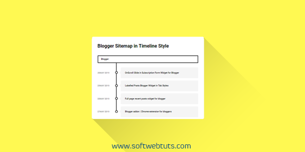 Blogger Sitemap in Timeline Style