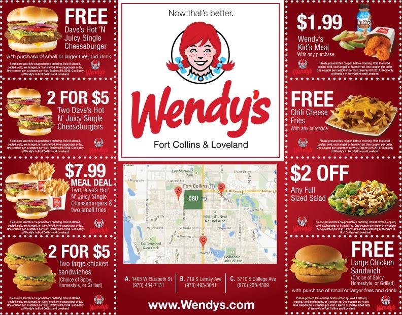 Free Printable Fast Food Coupons