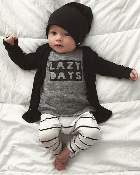 model baju bayi laki-laki umur 2 bulan