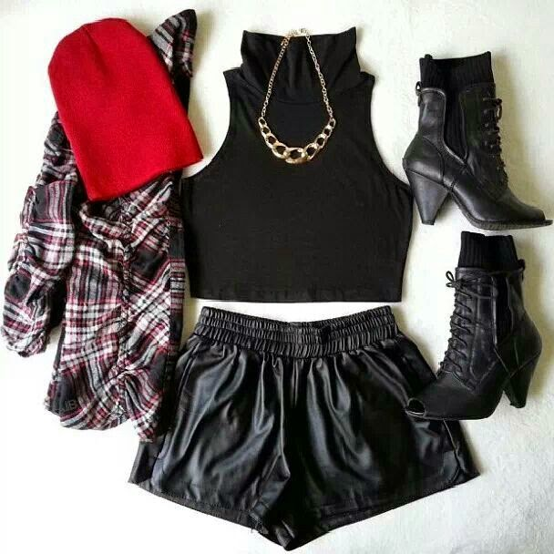 Cool, chic, edgy outfit