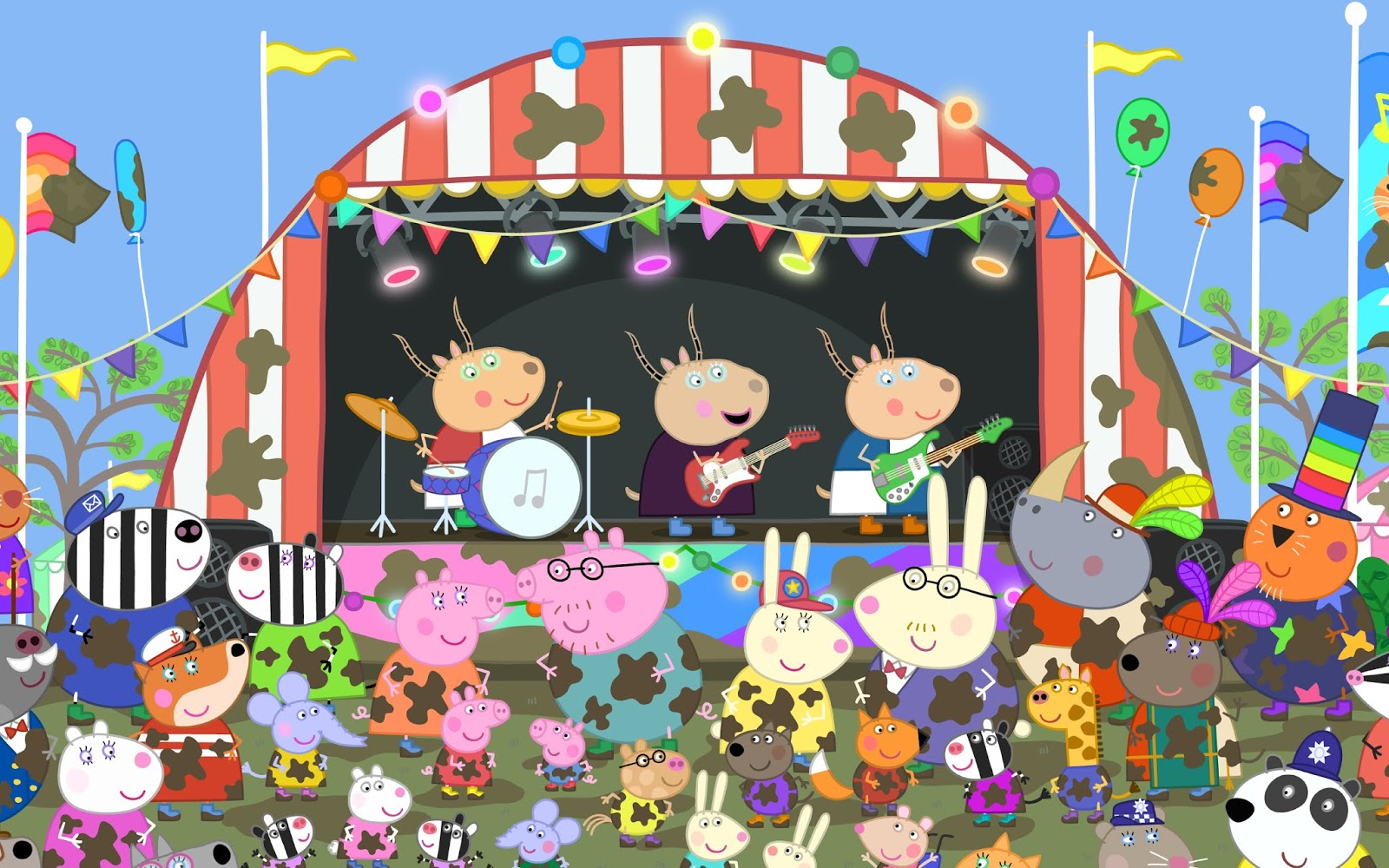 NickALive!: Peppa Pig And Friends Return To The Big Screen To Celebrate 15 Years Of Muddy