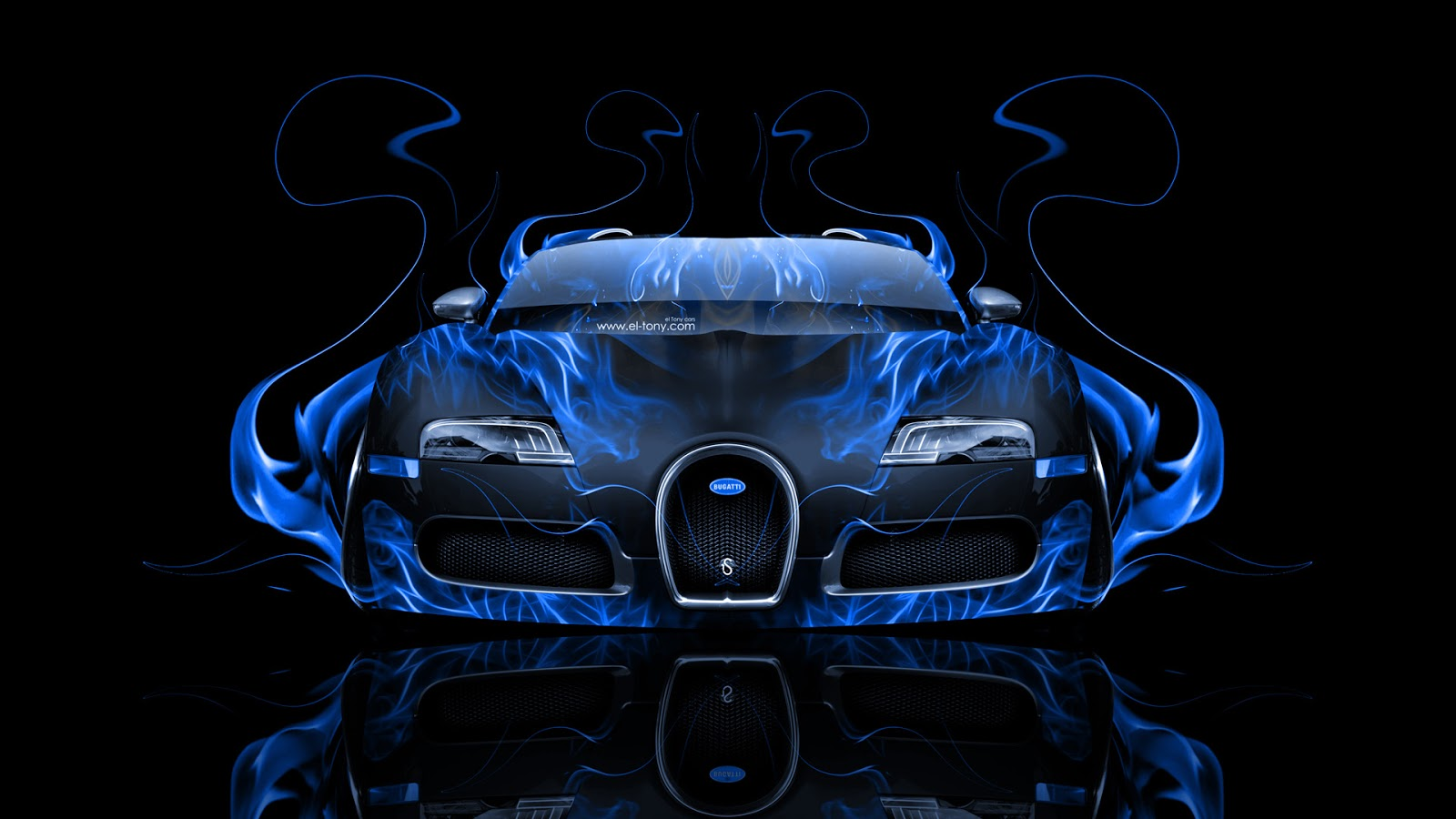 Bugatti Veyron Gold And Blue Wallpaper