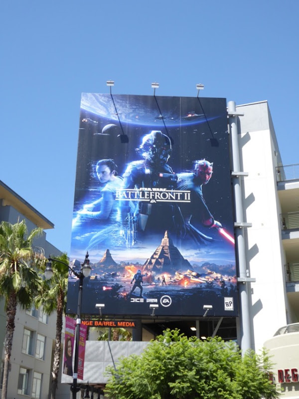 Star Wars Battlefront II game billboard