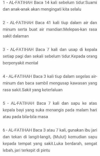 Kebaikan Al Fatihah.