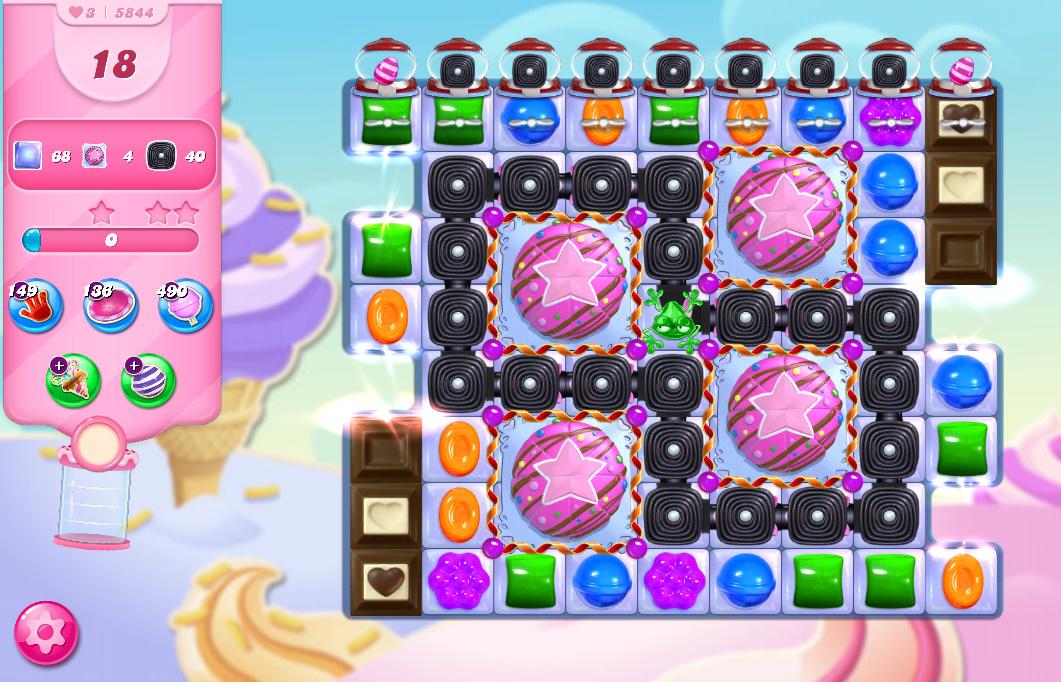 Candy Crush Saga level 5844