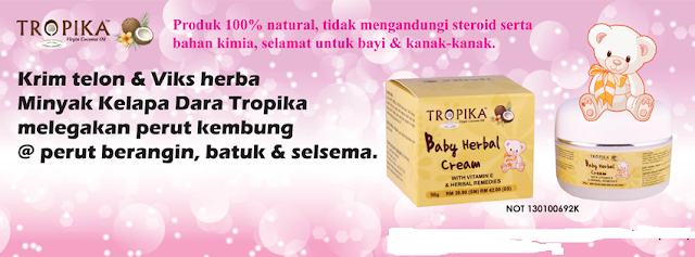 Baby Herbal Cream Tropica - Krim Telon Herba Tropica