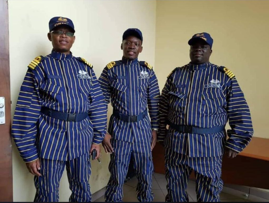 😂Zambian Custom Officials Uniform That Can Scare Cats