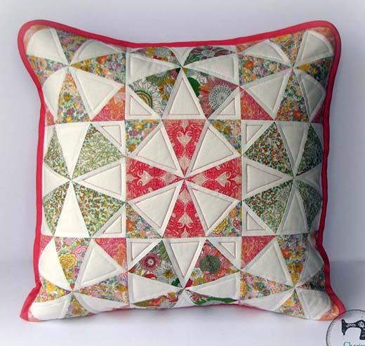 Spring Kaleidoscope Pillow Free Pattern