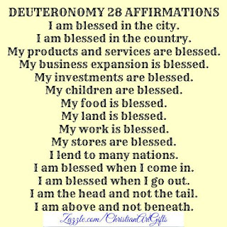 Deuteronomy 28 Christian affirmations
