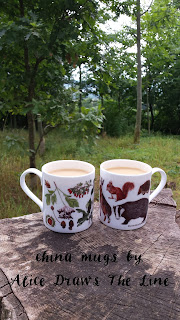 China Woodland mugs by Alice Draws The Line