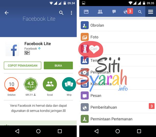 solusi facebook android lemot