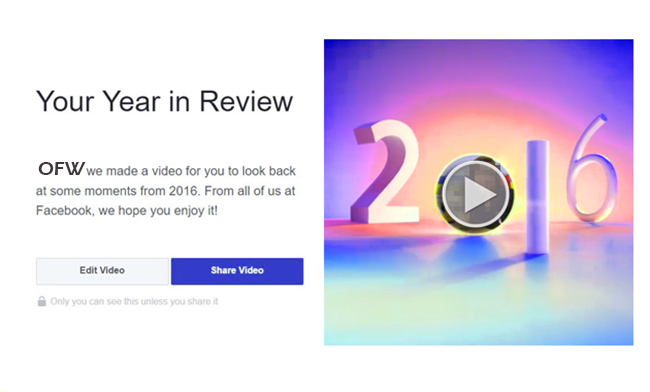 Create Your Own Facebook Year in Review 2016 Video