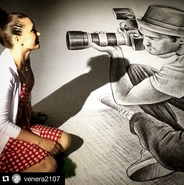 Бен Хайне Россия - Ben Heine Art Exhibitions in Russia - Pencil Vs Camera - Карандаш против камеры 2015 - Ben Heine photos from Fans